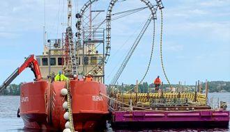Suomen sisävesien ensimmäinen suurjännitteinen vesistökaapeli