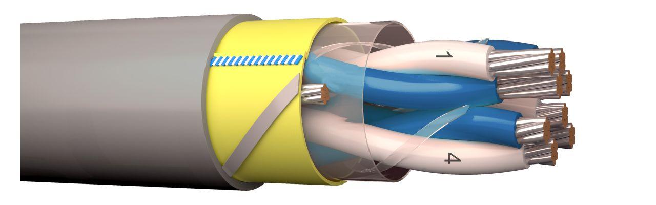NOMAK-HF C-PRo instrumentointikaapeli Cca-paloluokkaan